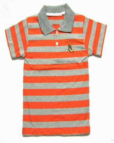 Orange Striped Polo Shirt Kids Shirts Orange Gray Stripe