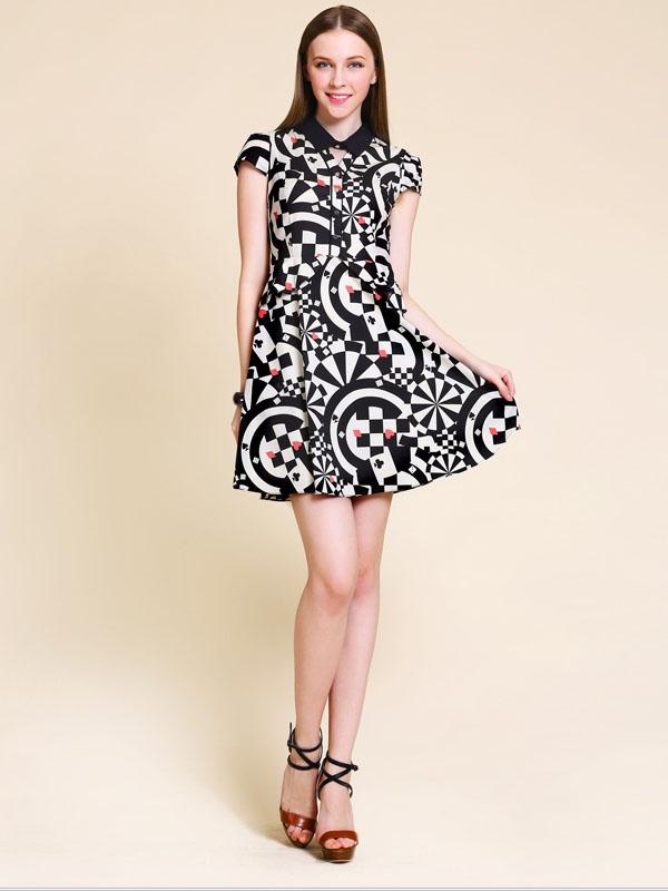 Short Print Dresses